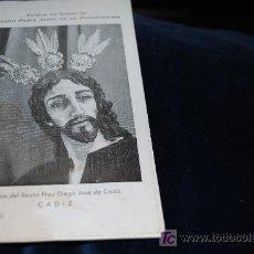 Antigüedades: ANTIGUO LIBRILLO DE 3 HOJAS, IGALESIA DE BEATO FRAY DIEGO JOSE DE CADIZ, TRIDUO EN HONOR NUESTRO.. . Lote 16230442