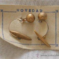 Antigüedades: GEMELOS AÑOS 50 BOLITAS DORADAS MODELO 11. Lote 209234110