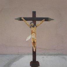 Oggetti Antichi: TALLA DE CRISTO EN LA CRUZ SIGLO 18. Lote 16262945