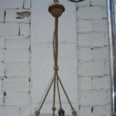 Antigüedades: LAMPARA DE CRISTAL OPALINO. Lote 16243335