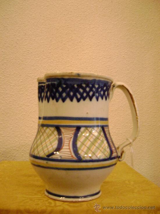 JARRA DE MANISES.SOBRE 1900 (Antigüedades - Porcelanas y Cerámicas - Manises)