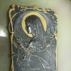 Antigüedades: PURA BENDITERA ART NOUVEAU, EN PLATA , ONIX . FF.SG.XIX. FIRMADA RL & S PARIS DEPOSE. PILA CON TAPA.. Lote 16262889