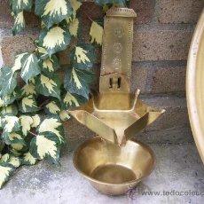Antigüedades: LAMPARA DE ACEITE DE LATON --- CANDIL. Lote 22665470