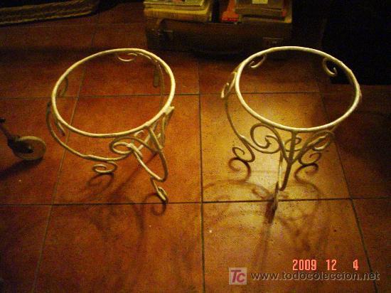 Dos maceteros de hierro comprar antig edades varias en - Maceteros de hierro ...