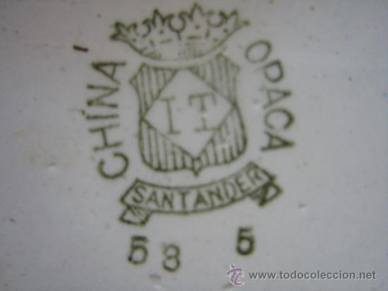 Antigüedades: ANTIGUA SOPERA SALSERA SANTANDER CHINA OPACA - Foto 4 - 16419539