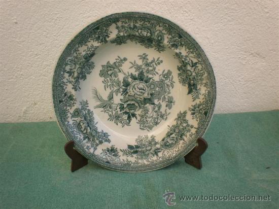 PLATO HONDO INGLES (Antigüedades - Porcelanas y Cerámicas - Otras)