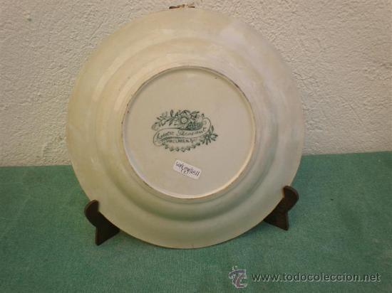 Antigüedades: plato hondo ingles - Foto 2 - 16460360