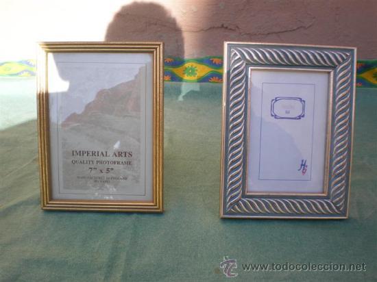 2 MARCOS PORTARETRATOS (Antigüedades - Hogar y Decoración - Portafotos Antiguos)