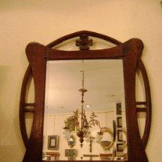 Antigüedades: ESPEJO CON MARCO MODERNISTA. Lote 27363592
