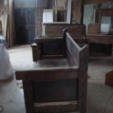 Antigüedades: ANTIGUO BANCO RUSTICO EN MADERA DE CASTAÑO. Lote 24654484