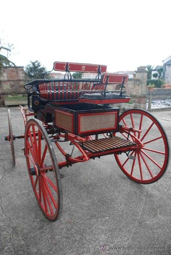 Antigüedades: Coche de caballos tipo buggy americano - Foto 2 - 26444355