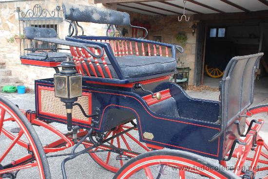 Antigüedades: Coche de caballos tipo buggy americano - Foto 4 - 26444355