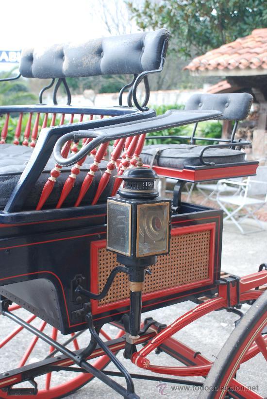 Antigüedades: Coche de caballos tipo buggy americano - Foto 5 - 26444355