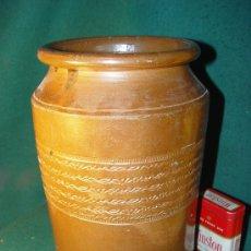 Antigüedades: ORZA DE GRES - ANTIGUA - 26 CM. - . Lote 26682086