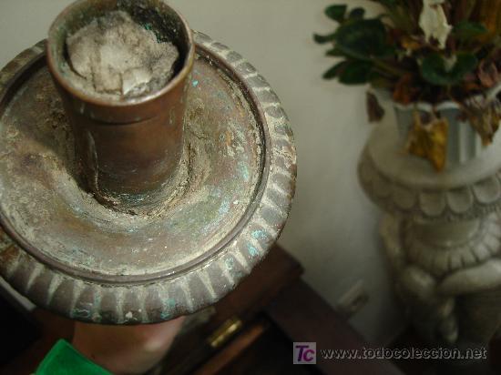 Antigüedades: candelabro hachero 53 cm de altura - Foto 4 - 26577222