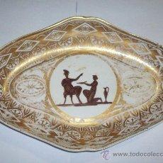 Antigüedades: FUENTE PORCELANA FRANCESA VIEJO PARIS CON ESCENA CLASICA C.1800. Lote 26403329