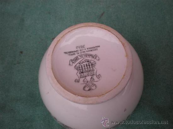 Antigüedades: tazon de porcelana firmado - Foto 2 - 16870723