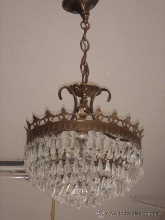 L mpara de techo de l grimas de cristal altur comprar - Lamparas cristal antiguas ...