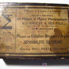 Antigüedades: SIGMA - A. LUMIERE - CAJA PARA NEGATIVOS DE VIDRIO CRISTAL. Lote 16940782