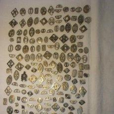 Antigüedades: 189 INICIALES ANTIGUAS DE PLATA PARA APLICAR. Lote 26892087