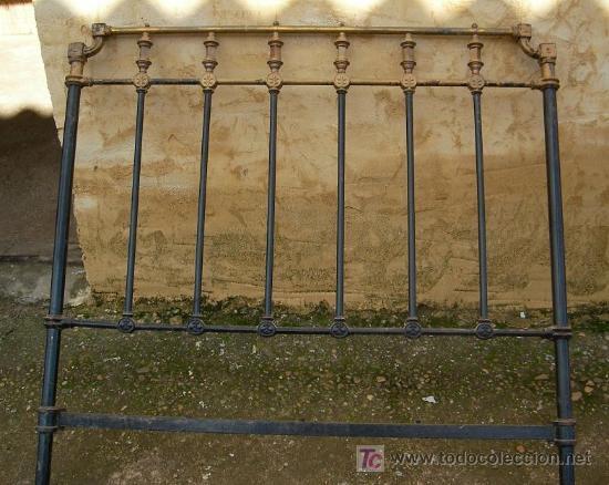 Cabecero antiguo de hierro y laton de 120 cm comprar - Camas antiguas de hierro ...