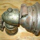 Antigüedades: ANTIGUO FAROL DE CARBURO PARA BICICLETA. Lote 26564229