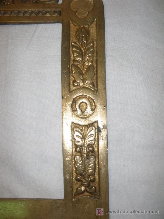 Antigüedades: MARCO DE SACRA EN BRONCE del XIX - Foto 2 - 27062880