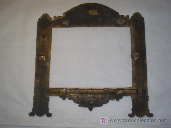Antigüedades: MARCO DE SACRA EN BRONCE del XIX - Foto 5 - 27062880