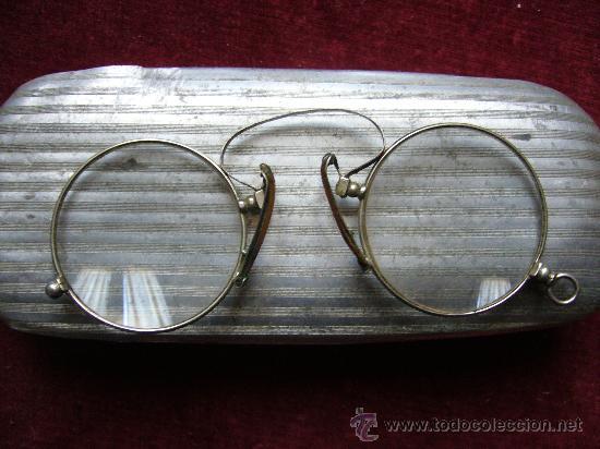 Antigüedades: Gafas antiguas con estuche - Foto 2 - 233684160