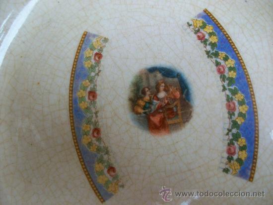 Antigüedades: PORCELANA OPACA. SEVILLA. SAN JUAN DE AZNALFARACHE.HACIA 1900. NUNCA VI OTRO IGUAL. - Foto 2 - 27482295