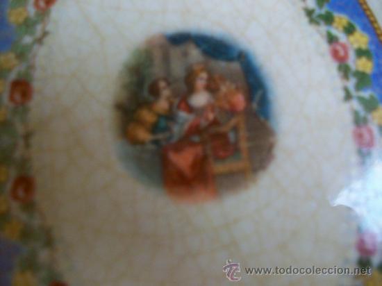 Antigüedades: PORCELANA OPACA. SEVILLA. SAN JUAN DE AZNALFARACHE.HACIA 1900. NUNCA VI OTRO IGUAL. - Foto 3 - 27482295