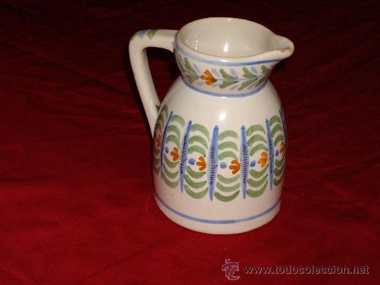 JARRA CERAMICA DE MANISES- FIRMA GM (Antigüedades - Porcelanas y Cerámicas - Manises)