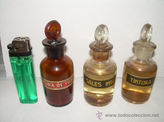 Antigüedades: CONJUNTO DE TRES BONITAS BOTELLAS DE FARMACIA - Foto 2 - 25630005
