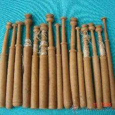 Antigüedades: LOTE DE 15 BOLILLOS -BOLILLO-. DIMENSIONES.- 11,75 A 9,75 CMS.. Lote 27247700