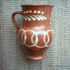 Antigüedades: JARRA DE BARRO VIDRIADO Y DECORADO DE ALBA DE TORMES, SALAMANCA. 15 CM.. Lote 17307495