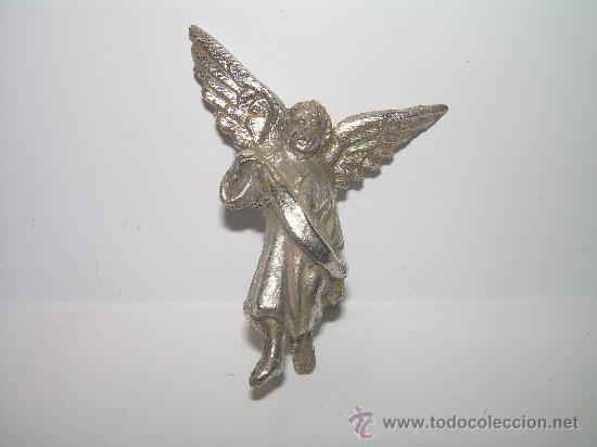 Antigüedades: ANTIGUO ANGEL DE PLATA - Foto 2 - 24182911