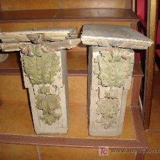 Antigüedades: 2 MÉNSULAS MÉNSULA BARROCAS. Lote 27248882