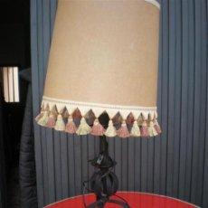 Antigüedades: LAMPARA DE HIERRO DE FORJA. Lote 17351225