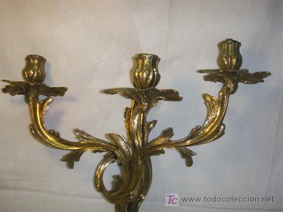 Antigüedades: APLIQUE DE BRONCE ESTILO LUIS XV - Foto 5 - 27427548