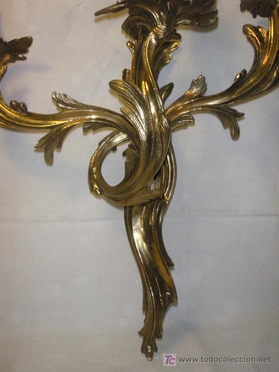 Antigüedades: APLIQUE DE BRONCE ESTILO LUIS XV - Foto 4 - 27427548