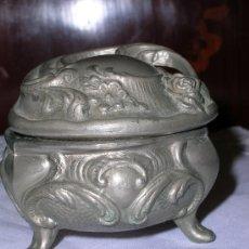 Antigüedades: ANTIGUA CAJITA JOYERO EN CALAMINA. Lote 27251836