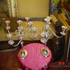 Antigüedades: PAREJA DE CANDELABROS. Lote 27305519