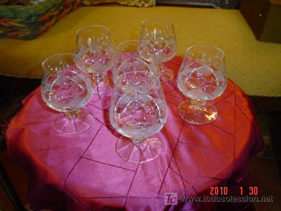 6 COPAS DE COÑAC (Antigüedades - Cristal y Vidrio - Otros)
