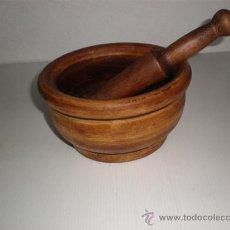 Antigüedades: MORTERO GRANDE DE MADERA. Lote 17387811