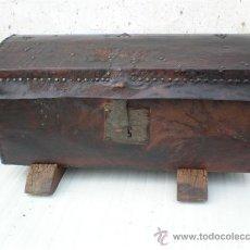 Antigüedades: ARCON EN MADERA Y PIEL . Lote 17451411