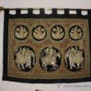 Antigüedades: !!MAGNIFICO TAPIZ ANTIGUO PROCEDENTE DE BIRMANIA. Lote 22853284
