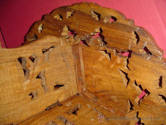 Antigüedades: Pareja de mesillas orientales en madera e incrustaciones de hueso - Foto 4 - 27344276