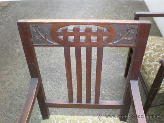 Antigüedades: 2 sillones en nogal - Foto 2 - 17471305