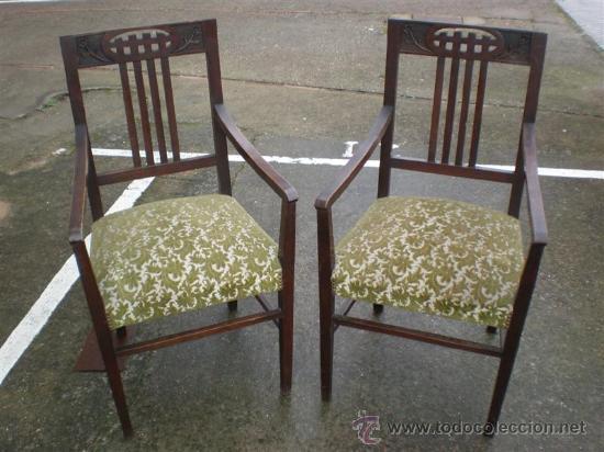Antigüedades: 2 sillones en nogal - Foto 3 - 17471305