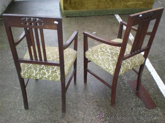 Antigüedades: 2 sillones en nogal - Foto 4 - 17471305